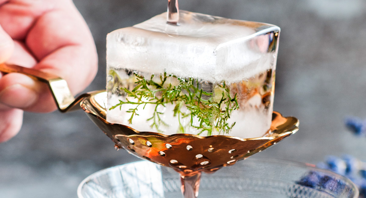 Botanical Infused Ice Cubes, by Drinksfusion.com